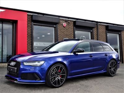 Audi RS6 4.0T FSI Quattro Performance AUDI EXCLUSIVE RS RACING BLUE WITH HUGH SPEC 2018 MODEL Estate Petrol BlueAudi RS6 4.0T FSI Quattro Performance AUDI EXCLUSIVE RS RACING BLUE WITH HUGH SPEC 2018 MODEL Estate Petrol Blue at Autoprestige Bradford
